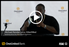 Michael Render (a.k.a. Killer Mike) Speaks at Our #BankBlackMiami Event