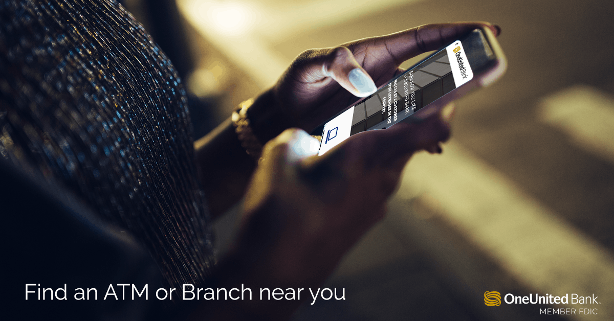 Branch/ATM Location Finder - OneUnited Bank