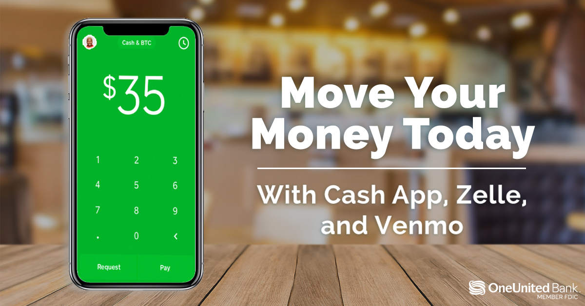 Move Your Money Today with Zelle, Cash App or Venmo  Get the Card