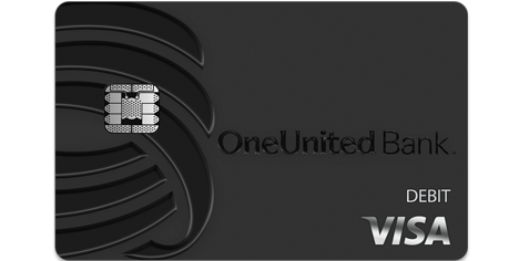 BankBlack Tap to Pay Visa Debit Card | OneUnited Bank