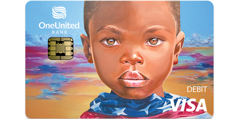 Doonie Liberty Holographic Tap to Pay Visa Debit Card | OneUnited Bank