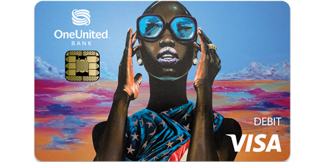 Lady Liberty Holographic Tap to Pay Visa Debit Card | OneUnited Bank