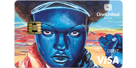 Mona Holographic Tap to Pay Visa Debit Card | OneUnited Bank